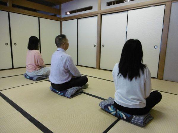【講座中止】和に親しむ~坐禅体験~