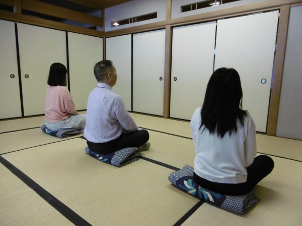 和に親しむ~坐禅体験~
