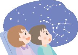 ドームホールプラネタリウム 星空投影会~北区の秋の空~